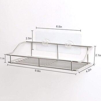 Ů�用的なバスルーム棚、壁マウントシャワーキャディー痕跡粘着、いいえ掘削収納オーガナイザーラックステンレス鋼キット