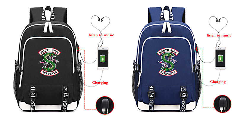 Mochila Riverdale 1-3 Type USB Charging School Bags For Teenage Girls Men's Fashion Travel Waterproof Laptop Backpack Bookbag