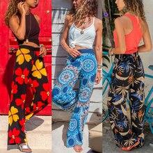 2019 New Women Baggy Harem Pants Boho Hippie Wide Leg Gypsy