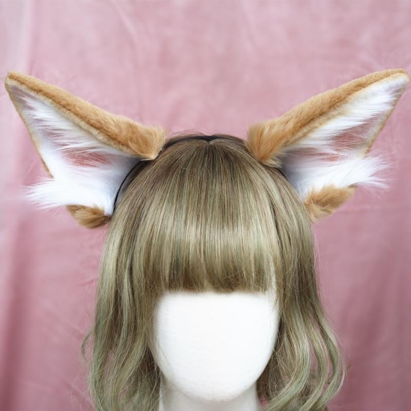 Nuevo trabajo de mano Animal orejas pelo de orejas de zorro sombreros accesorios para el pelo para mujer, chica, LOL fiesta cosplay