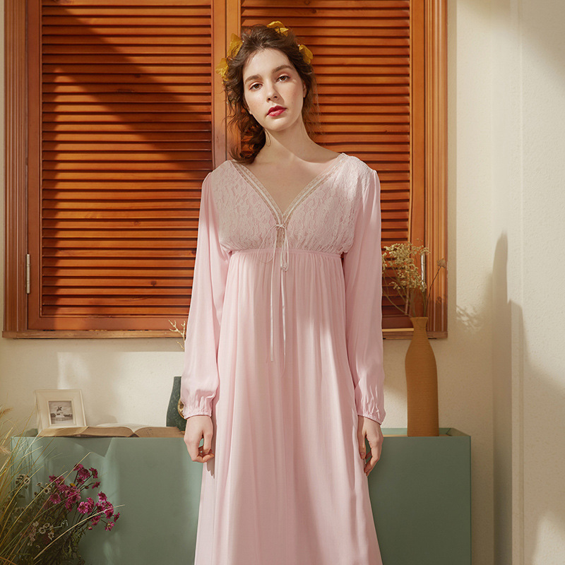 Vintage Sleep Lounge Lace   Nightgowns   & Sleepshirt Cotton Princess Nightdress Sleepwear Women   Sleepshirts   Sexy Ladie Nightwear