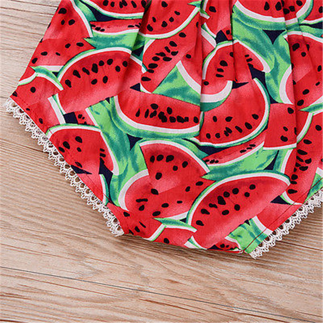 Newborn Infant Baby Girl Floral Print Off Shoulder Short Sleeve Romper Jumpsuit Outfit Playsuit Summer Cotton Girls Clothes