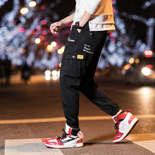 2019 New Pattern Fashion Leisure Pants Man Spring Overalls You Teenagers Motion Bound Feet Ankle Banded sweatpants hip hop Khaki
