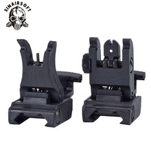 Folding Tactical Flip up Sight Rear Front Mount Transition Backup Iron Rapid Rifle RTS For Paintball accessories