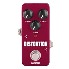 KOKKO Electric Guitar Effects Pedal Classic Distortion DC 9V Guitarra Mini Effect Pedal Guitar Part Accessories FDS-2 kokko kw 1 guitarra pedal high quality guitar accessories vol wah guitar pedal for guitar lovers