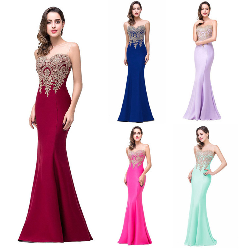 Try Everything Red Long Mermaid Party Dress Evening Backless Summer Dress Women 2019 Mesh Lace Elegant Dress Slim Ladies Dresses in Dresses from Women 39 s Clothing