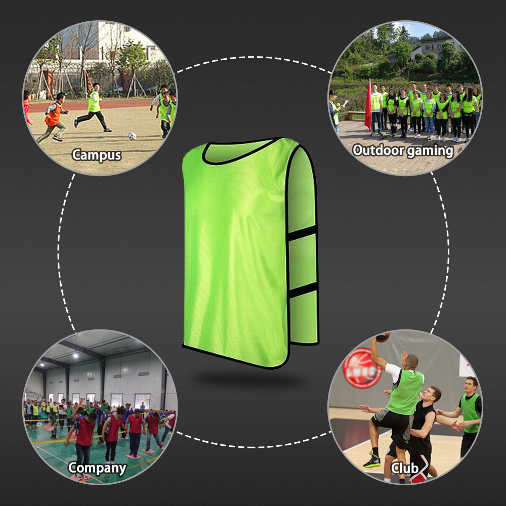 Новые 12 шт. Детские командный Спортивный футбол футбольные тренировочные кофта-передничек быстросохнущие футбольные майки Team спортивные Манишки