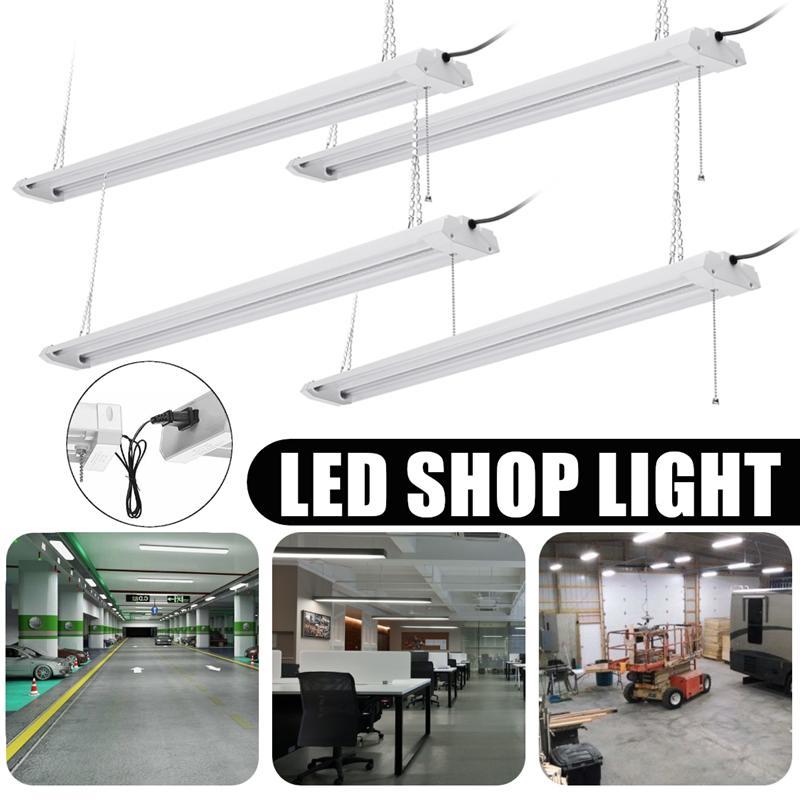AC 120 V 4 pièces 40 W tube LED intégré 1213mm 4ft lampe fluorescente CRI SMD 2835 puce pour magasin mur LED tube magasin lumière Kit