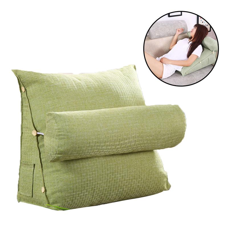Stereo Bed Couch Triangular Backrest Pillow Waist Cushion