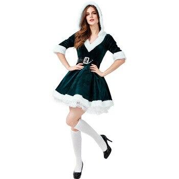 Adultos De Navidad De Santa Claus Falda De Fiesta De Vestido Club Vestido De Navidad Vestidos De La