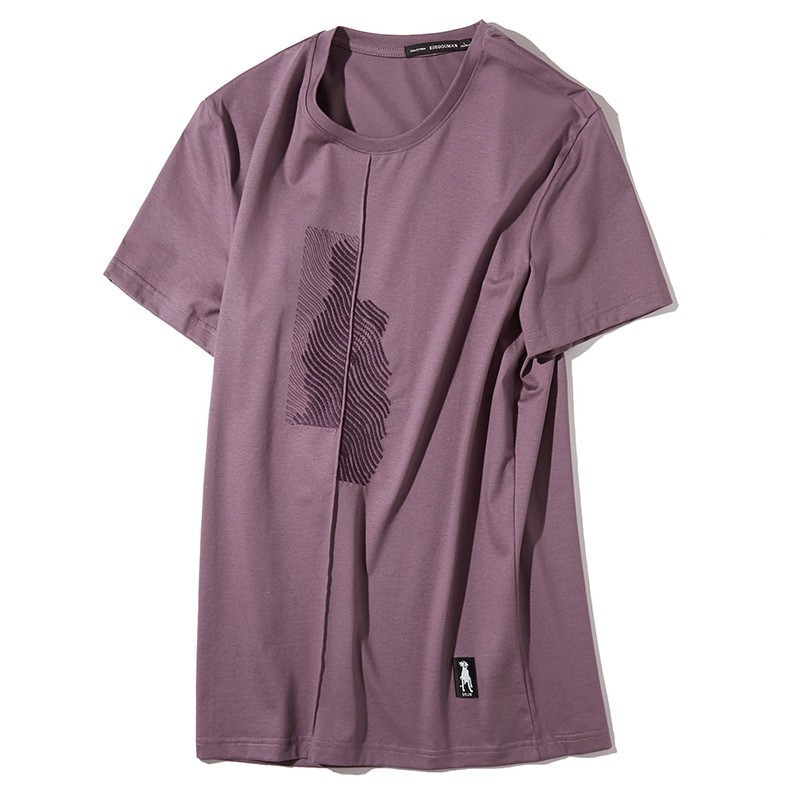 KUEGOU 2019 Summer Cotton Plain White T Shirt Men Tshirt Brand T-shirt Short Sleeve Tee Shirt Fashion Clothes Plus Size Top 1776
