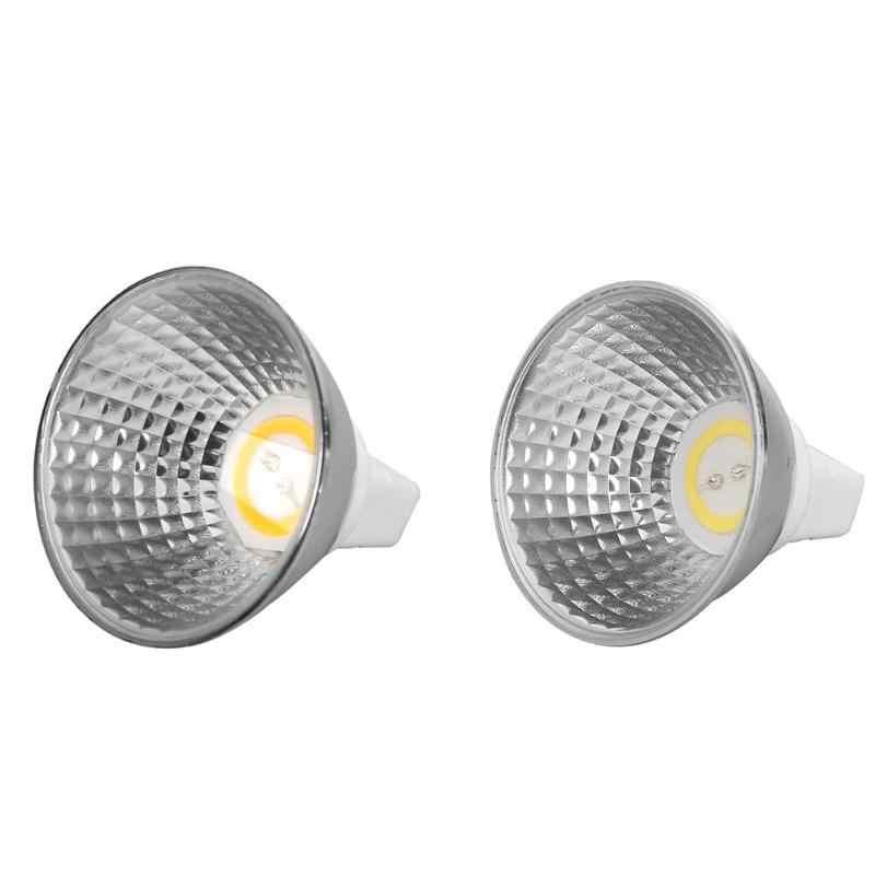 MR16 COB2020 светодио дный лампы AC/DC12V 5 Вт GU5.3 заменить свет для галогенные фары 38 градусов светодио дный лампы для украшения дома