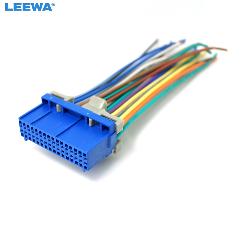 Leewa 10pcs Car Audio Stereo Wiring Harness For Buick  Cadillac  Pontiac  Oldsmobile Pluging Into