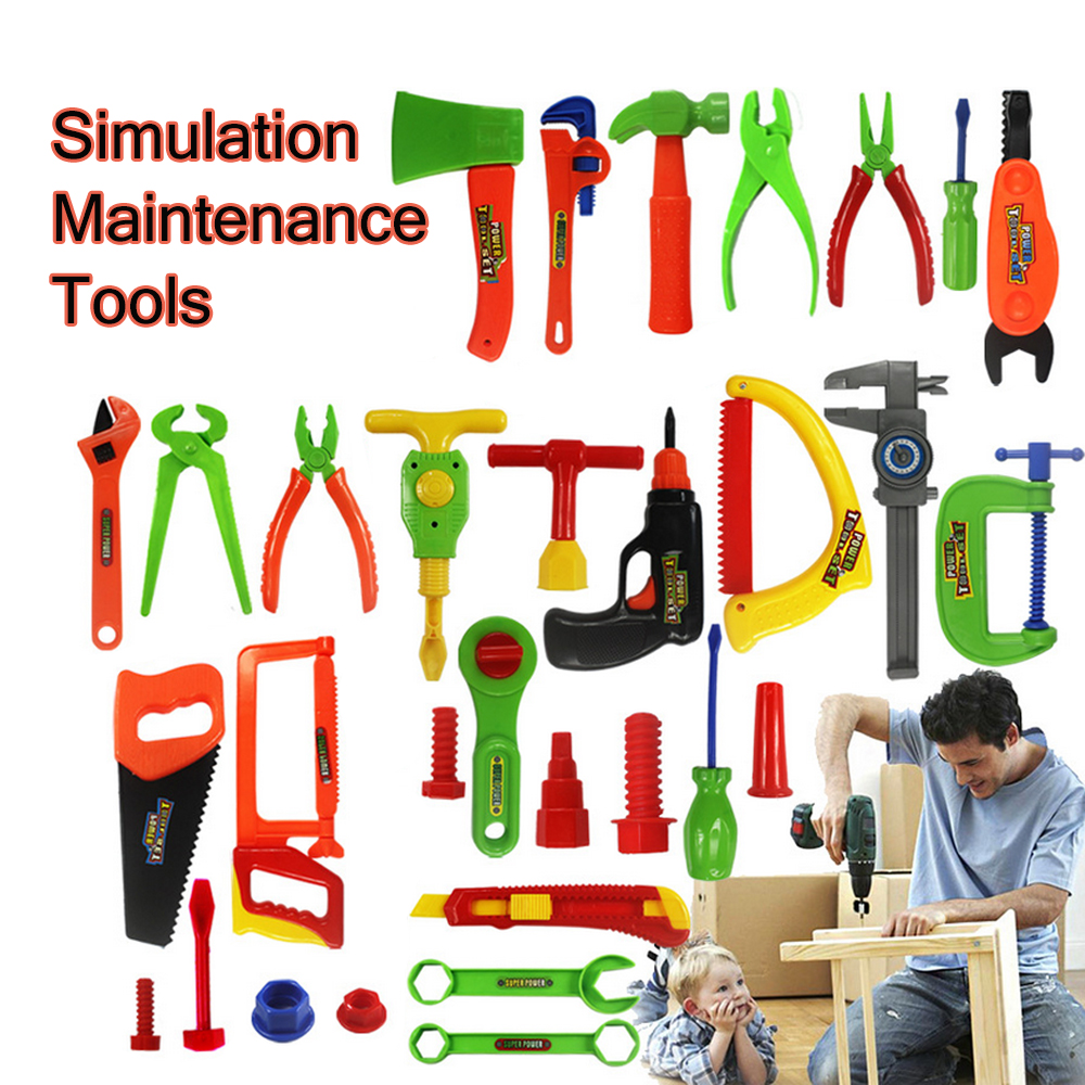 Precise 27/32pcs Children Repair Tools Set Boy Simulation Maintenance Kits Kids Portable Craftsman Tool Box Toys Pretend Play Gifts Attractive Fashion Toys & Hobbies