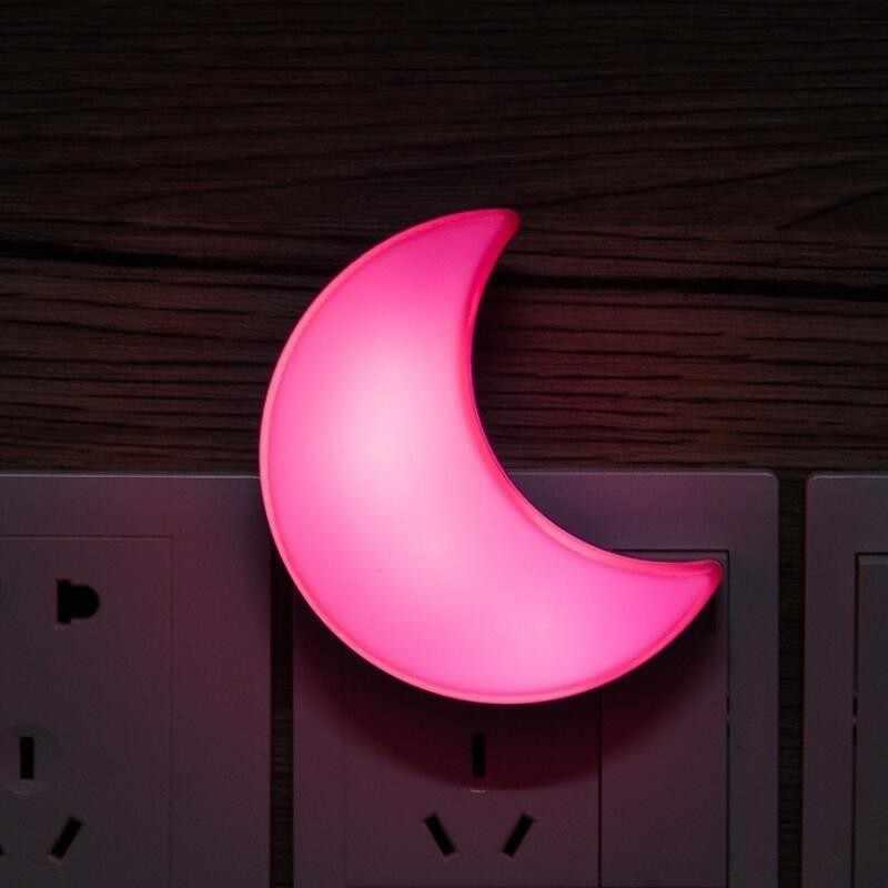 T20 Датчик управления мини Звезда Луна светодиодный ночник для темных ночных детей спальня прикроватная лампа ЕС/США штекер ночной Детский Светильник