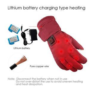 Image 3 - Einstellbare Temperatur Thermische Handschuhe Batterie Powered Wiederaufladbare Beheizte Handschuhe Wasserdichte Touch Screen Handschuhe Wärmer Für Frauen
