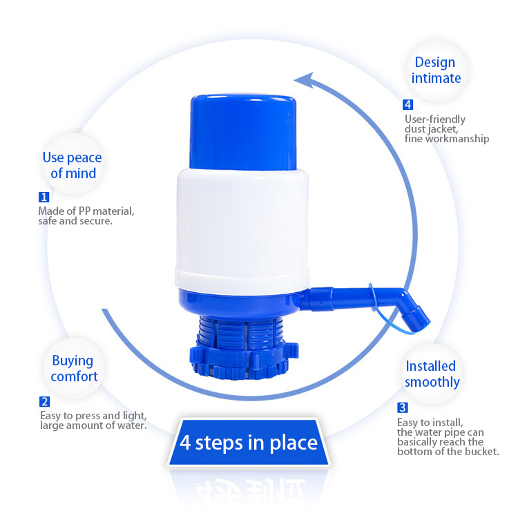 New Water Pump with an extra short tube and a sanitary cap Manual Drinking Water Pum
