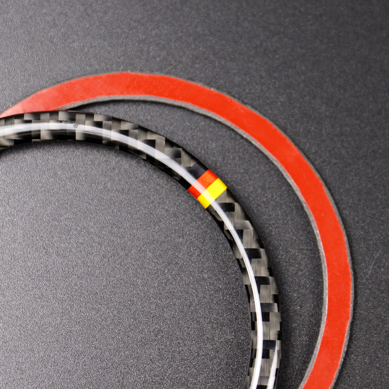 Image 4 - For Mercedes Benz W205 C180 C200 C300 GLC260 4pcs/set Carbon Fiber Car Door Speaker Ring Loudspeaker Sticker Cover-in Interior Mouldings from Automobiles & Motorcycles