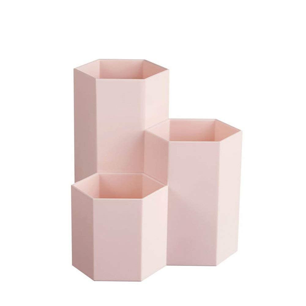 PPYY NEW -1Pc Novelty Hexagon Pencil Pen Holder Desk Storage Box Organizer Business Desktop Stationery Office School Gift