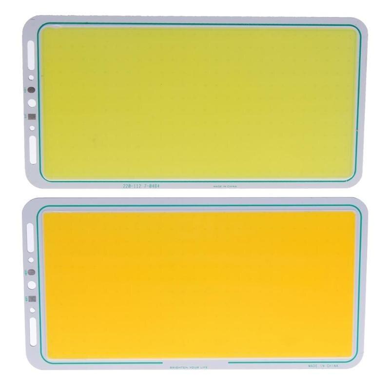 12V 70W 7000LM 220X120mm LED Panel Light LED Strip Light LED COB Light Lamp White/Warm White Soft High Brightness Working Lights