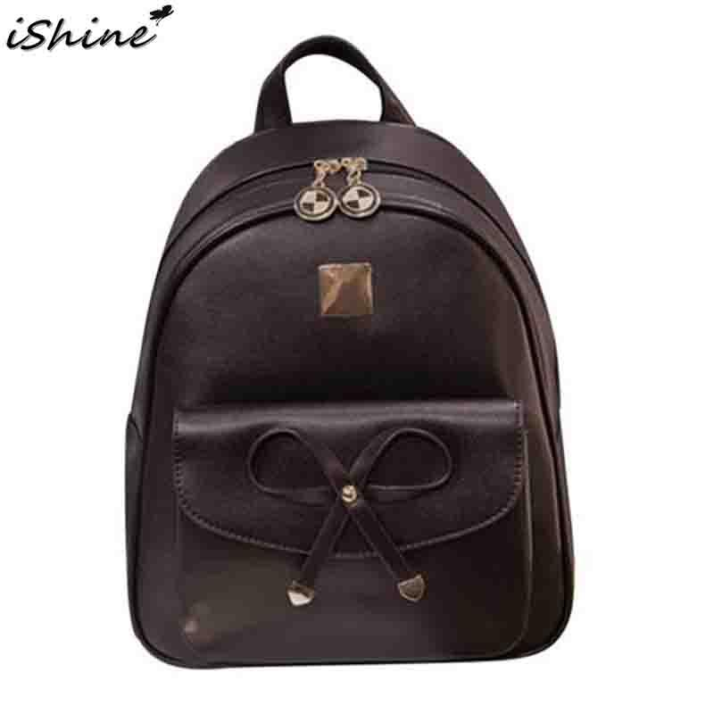 Ishine 2019 New Backpack Female Casual Fashionable Japan And South Korea PU College Style Versatile Travel Backpack For Lady