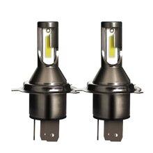 2PCS 55W H4 LED headlight (automobile) bulb, 26000LM high brightness far and near light, 6000K color temperature.