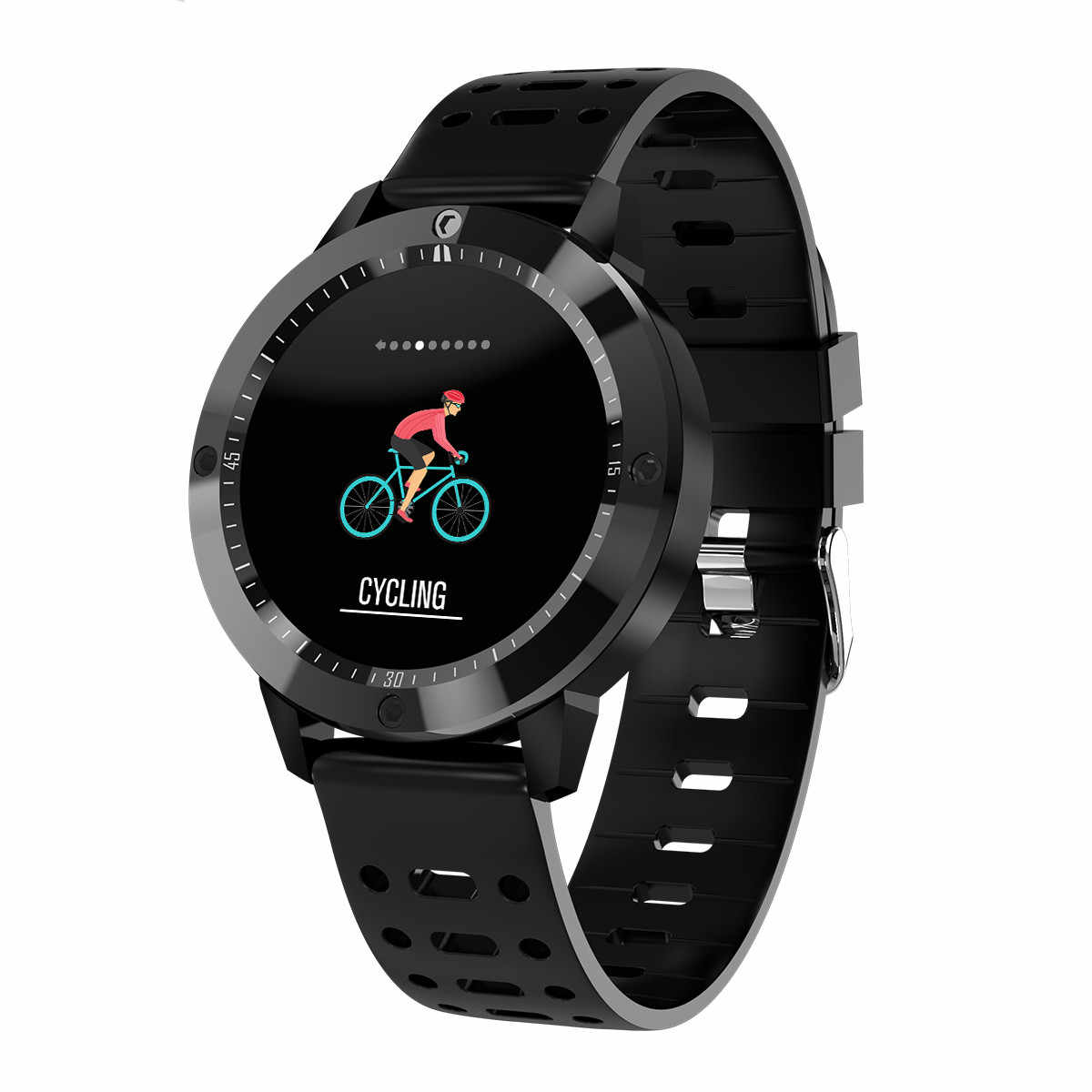 CF58 Smart watch IP67 waterproof Tempered glass Activity Fitness tracker Heart rate monitor Sports Men women smartwatch