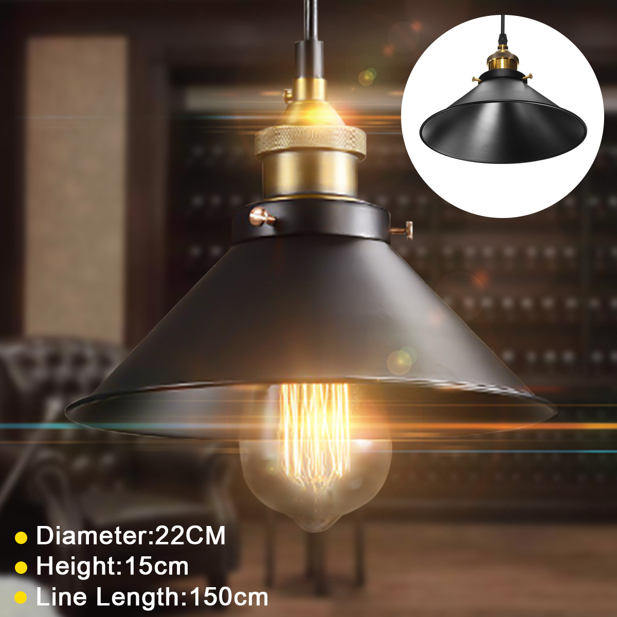 Vintage Techo Lámpara Retro Redonda Luz Diseño La HierroArquitecto Industrial De zqGSUMpV