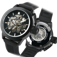 Men's Watch Sport Man Clock Mechancial Wrist Watches Waterproof Silicone Watch Band Self Winding Male Watchreloj masculino
