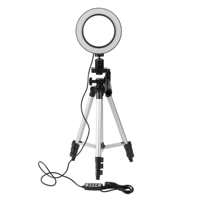 Alloyseed 5.7inch Dimmable LED Studio phone Ring Light Photo Phone Video Light Annular Lamp With Tripods Selfie Stick Ring Fill rock rot0770 selfie stick night led fill light blue
