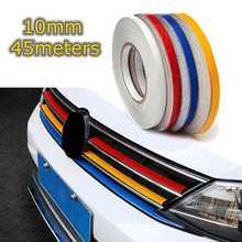 10mm 150 feet Car Reflective Body Rim Stripe Sticker DIY Tape Self-Adhesive Car Sticker Car-styling Red White Yellow Blue