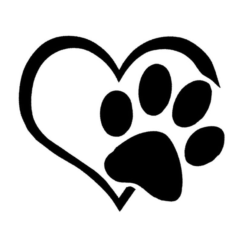 10*9CM Love Cat Dog Footprints Car Styling Decoration Decal Sticker Car Window Cover Scratch Stickers Accessories C4-0039