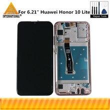 "Original Axisinternational 6.21 ""สำหรับ Huawei Honor 10 Lite HRY LX1 HRY LX2 จอแสดงผล LCD หน้าจอ + Digitizer แผงสัมผัส"