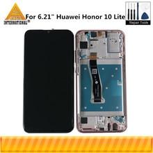 "Originele Axisinternational 6.21 ""Voor Huawei Honor 10 Lite HRY LX1 HRY LX2 Lcd scherm Met Frame + Touch Panel Digitizer"