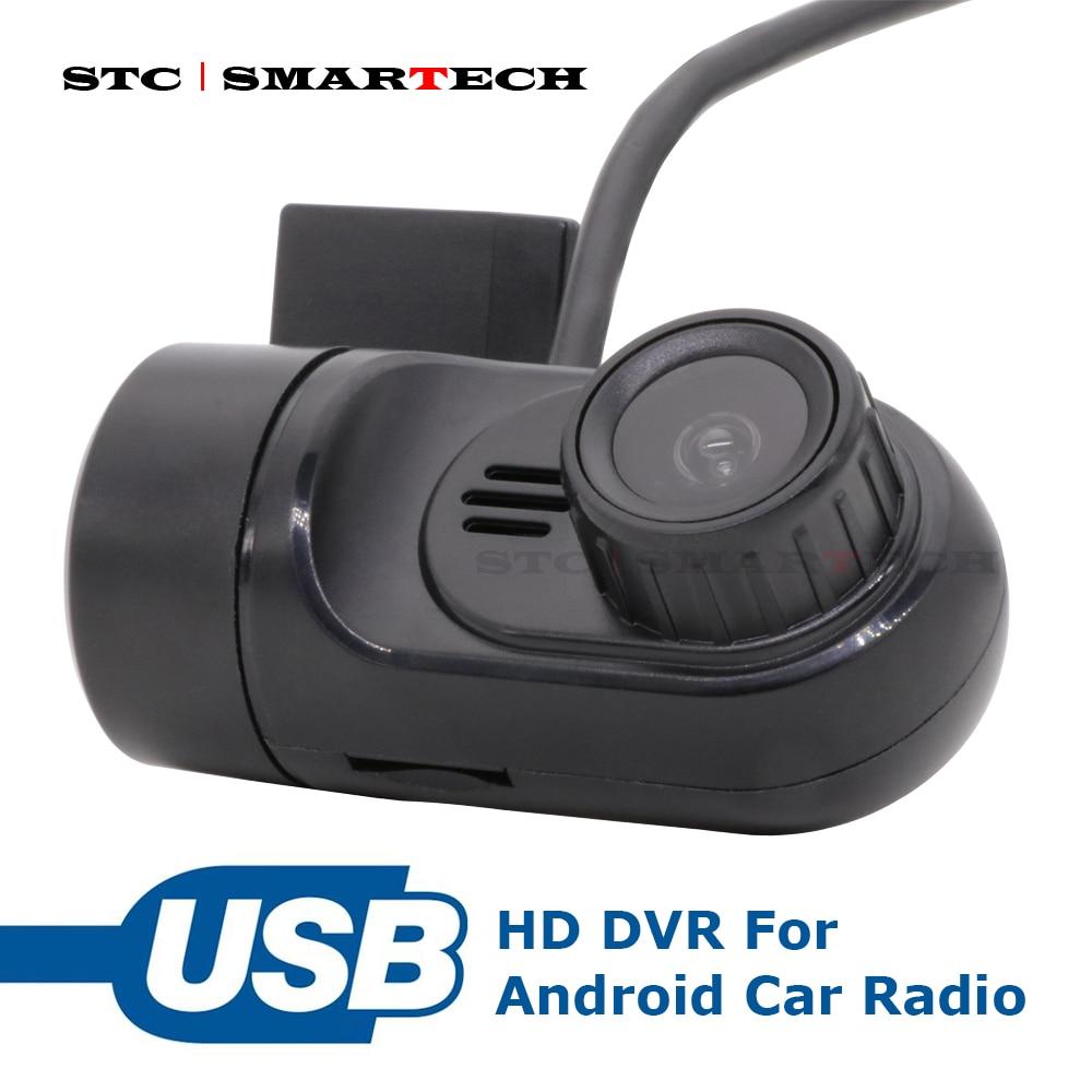 Smartech usb dvr câmera com função de adas, rádio android dvr câmera frontal, suporte android 4.4/6.0/7.1/8.1 carro dvd gps