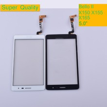 10Pcs/lot For LG Bello II X150 X155 X165 Touch Screen Touch Panel Sensor Digitizer Front Glass Outer Lens Touchscreen NO LCD touch panel for lg l bello d331 d335 d337 touch screen digitizer sensor glass lens with logo with tracking number