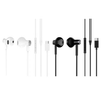 Xiaomi Earphones USB Type-C Headset Half In Ear Wired Control Dynamic Ceramic Speaker Headphones with Mic MI Headsets
