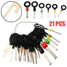 Practical 21pcs/set Car Truck Electrical Terminal Wiring Crimp Connector Pin Removal Key Tool Kit Universal For SUV