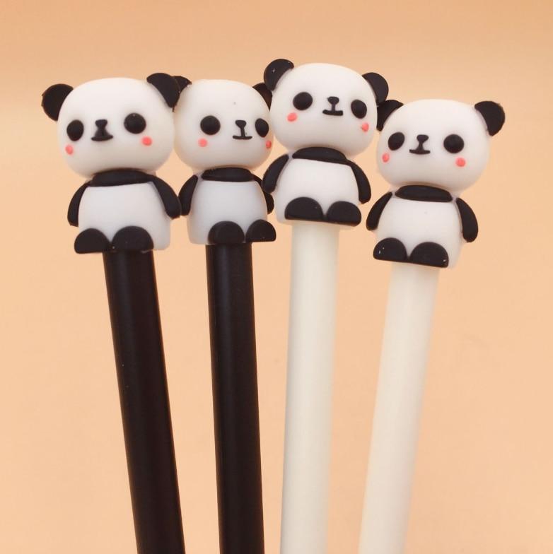 Ellen 1 Ribeiro Peça Gel Novo Modelo Quente Coreano Bonito Panda Dos Desenhos Animados Suprimentos Caneta Escola Material de Escritório Estudante Neutro Preto tinta