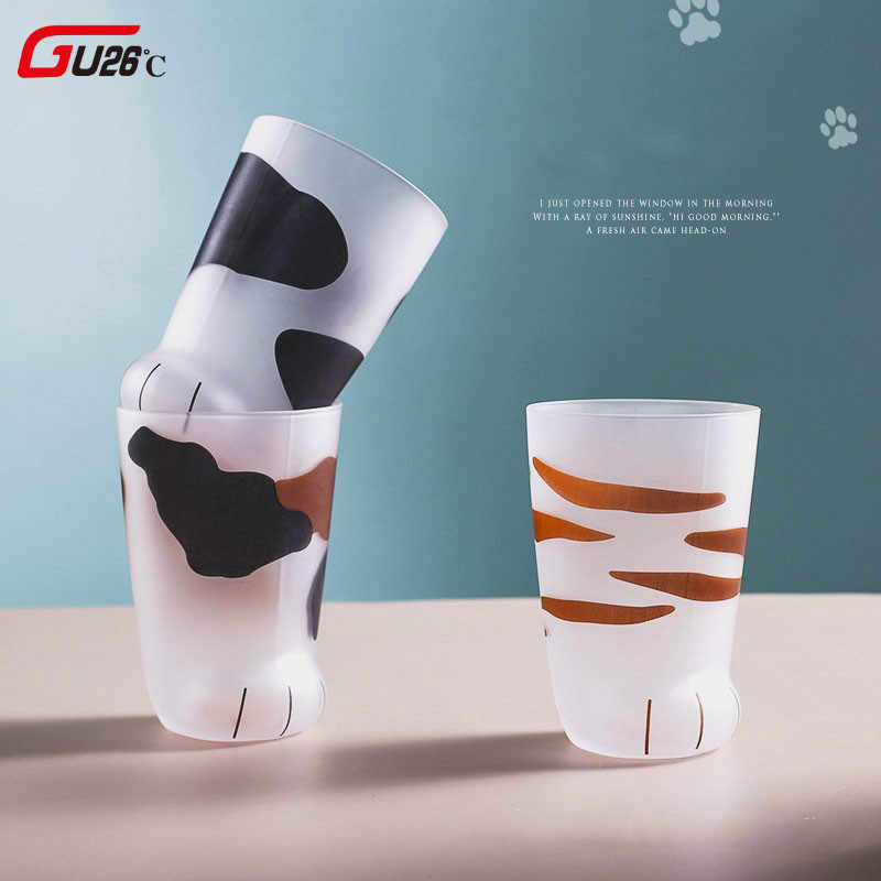 Office Breakfast Personality Creative Cup Porcelain Milk Coffee Gift Tiger Mug Cute Cat Paws Tumbler Glass mgyIYbf7v6