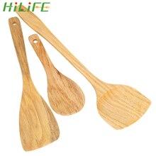 HILIFE кухонный инструмент для антипригарной сковороды деревянная лопатка Деревянная Лопатка деревянная лопатка кухонный инструмент посуда рисовая ложка посуда