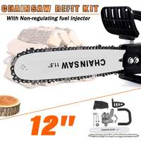 12 Inch 42cm DIY Electric Chainsaw Bracket Set Change Angle Grinder Into Chain Saw Woodworking Refit Tool for 100 Angle Grinder