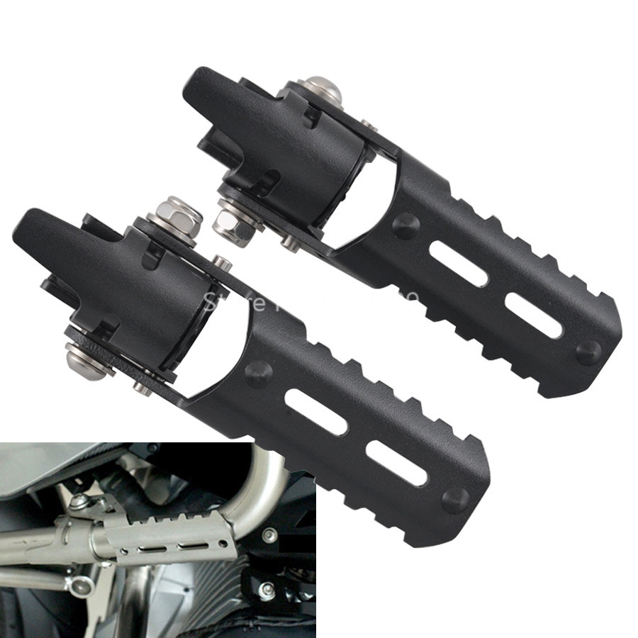 A Pair 25 MM Highway Foot Pegs for Pipes Triumph Tiger Explorer Fit For BMW R1200GS LC 2013 2018-in Covers & Ornamental Mouldings from Automobiles & Motorcycles    1