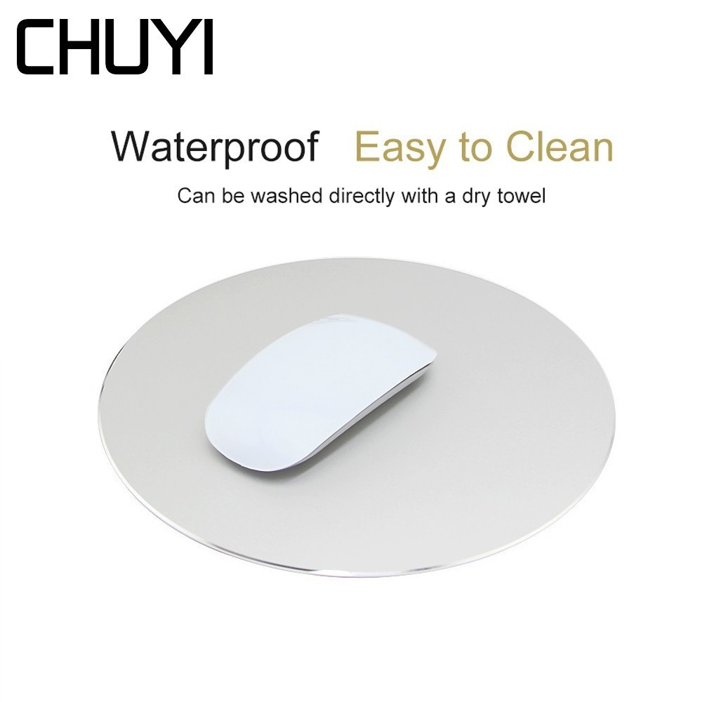 CHUYI Aluminum Alloy Mouse Pad For Apple Magic mouse alfombrilla ordenador Gaming <font><b>Mousepad</b></font> For <font><b>Xiaomi</b></font> MackBook Laptop Mause image