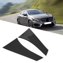2 шт. Авто из углеродного волокна задний Окна Накладка в полоску Стикеры для Mercedes GLA 2015 2016 2017 2018 внешний аксессуары наклейки