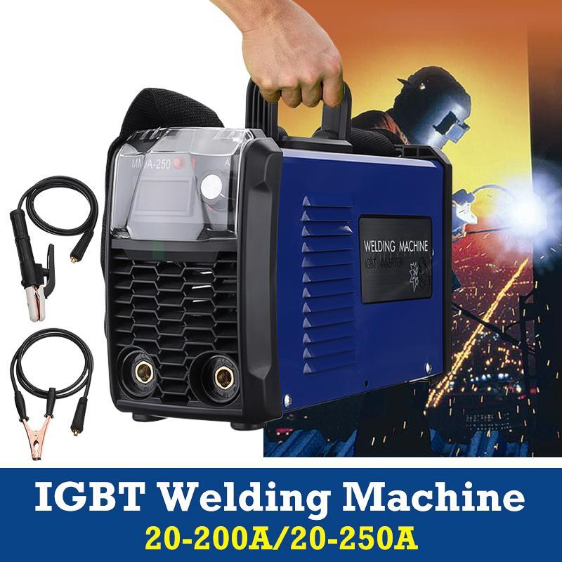 IGBT Inversor Máquina de Solda a Arco Elétrico 220 V MMA-200 FORGELO/MMA-250 Soldadores Plugue DA UE
