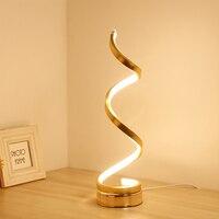 Spiral LED Table Lamp Streamlined Adjustable Table Lamp Decoration Soft Brightness Side glowing Led Bedside Desktop #2