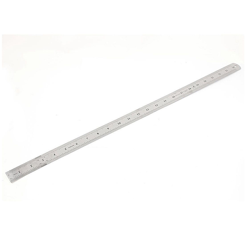 50cm 60cm 20/24inch Groove Right Stainless Steel Metric Straight Ruler Double Sided Measuring Tool Drawing Drafting Sewing Foot