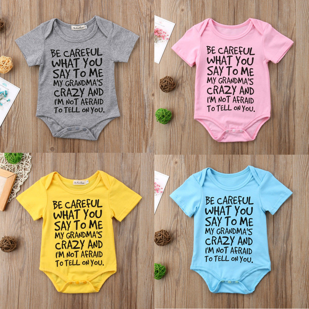 6ff8c186474 Pudcoco Baby JHumpsuits Baby Boy Girl Toddler Grandma Romper Jumpsuit  Clothes Outfit 0-24M