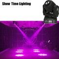 Показать время 60 Вт мини LED gobo движущаяся головка 8 видов цветов и изображений прожектор клуб DJ сценическое освещение Вечеринка диско движущ...